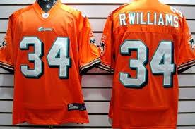 Jersey Williams Ricky 48m Orange Dolphins Size Miami 128482712