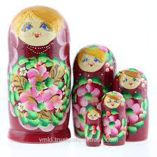 5 Con Búp Bê Matryoshka Của Nga,Búp Bê Làm Tổ Bằng Gỗ 15 Cm,Kết Hợp Búp Bê  Làm Tổ Thủ Công Bằng Gỗ Từ Một Nghệ Sĩ,Ms0503pahn - Buy Nga Bê Của