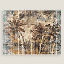 modern palm trees wall art on wood palm tree wall art with modern palm trees wall art world market