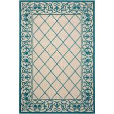 aloha aqua 5 ft x 7 ft indoor outdoor area rug