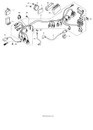 Honda fourtrax rancher 4x4 es trx350fe wire harness parts honda best oem for rancher