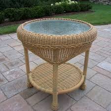 furniture round wicker table mats outdoor setting set with four chairs dining glass top small