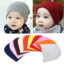2017 Solid Color Beanies Knitted <b>Autumn Winter Warm</b> Girl Hat ...