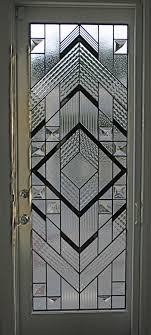 Single door Contemporary Leaded Glass