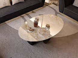 oval marble coffee table for living room symphony infinity marble coffee table by bizzotto