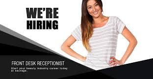 salon spa front desk receptionist job openings