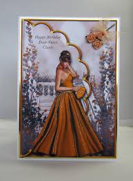 Elegant Lady Birthday Card 1 Layered