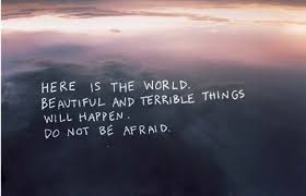 Beauty Of The World Quotes Best of Here Is The World Beautiful And Terrible Things Will Happen Do Not