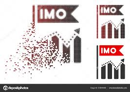 Dissolving Dotted Halftone Imo Chart Trend Icon Stock