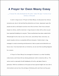 a prayer for owen meany essay a prayer for owen meany essay d this preview has intentionally blurred sections sign up to view the full version