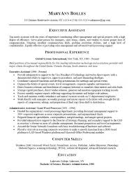 Resume For Executive Assistant New Administrative Assistant Resume