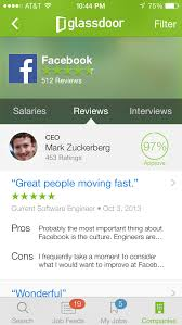 they can also consult glassdoor reviews and salary information as part of their research glassdoor