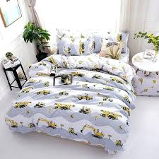 personalized bedding sets fashion excavator personalized polyester bedding set white twin customized baby bedding sets