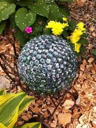 Decorating Bowling Balls Marbles Inspiration Old Bowling Ball E32 Glue Flat Marbles Outdoor Living