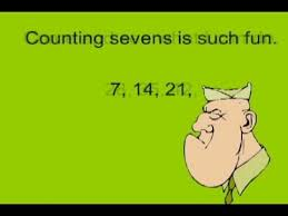 Counting By Sevens Chart Multiply By 7 In Minutes With Powerdot Multiplication Skip Counting Songs Www Powerdotmath Com