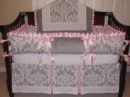 and pink baby bedding