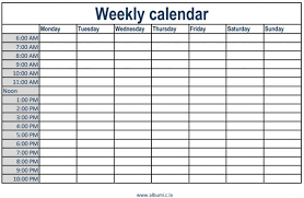 U Template Calendar With Times Tachris Aganiemiec Com Weekly Time Slots Excel