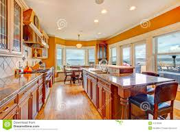 Bright Kitchen Beautiful Bright Kitchen Room With Walkout Deck Royalty Free Stock
