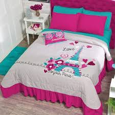 paris bedspread for kids girls