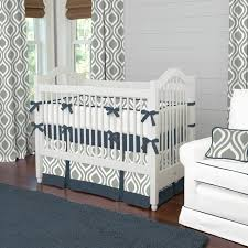 gray and navy raindrops crib bedding contemporary kids