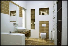 modern bathroom design pictures. White And Brown Accented Modern Bathroom Design Idea Pictures S