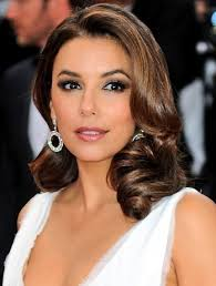 eva longoria formal long wavy hairstyles