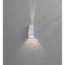 outdoor wall lighting led with silver design ideas on grey wall