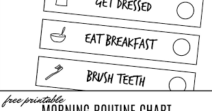 Free Morning Routine Chart Pictures Free Printable Morning Visual Routine Chart For Kids And