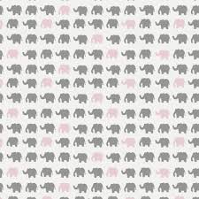 Elephant Pattern Fascinating Gray And Pink Elephant Parade Fabric By The Yard Pink Fabric