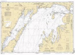 Green Bay Depth Chart North End Of Lake Michigan Including Green Bay Nautical