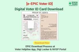 digital voter id card with photo e