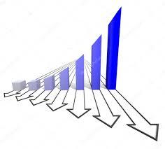 carta de negocios carta de negocios con flecha azul foto de stock dengess 15411577