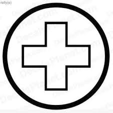 Medical Help Sign Decal Vinyl Decal Sticker Wall Decal Decals Ground