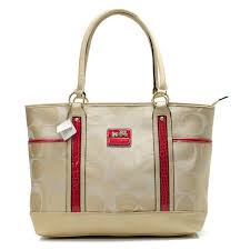 Coach Madison In Signature Large Khaki Totes ANI