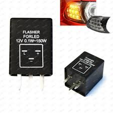 turn signal flasher 3 pin ep28 electronic led flasher relay fix turn signal bulbs hyper flash issue