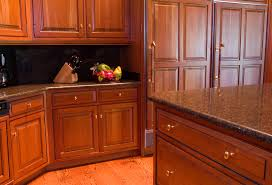 image of wood kitchen cabinet hardware