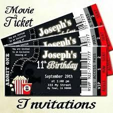 Movie Night Invitation Template Free Movie Night Invitation Template Free Hollywood Themed Birthday Party