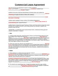 Month To Month Rental Agreement Template Commercial Lease Agreement Template Free Download Create