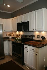Paint Oak Cabinets White I Don T Usually Like White Cabinets But Best Kitchen Paint Colors With Black Appliances