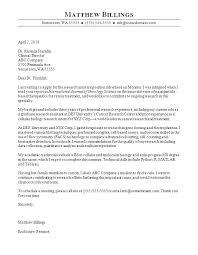 Sample Cover Letter Format Example Stunning Associate Chemist Cover Letter Environmental Chemist Cover Letter