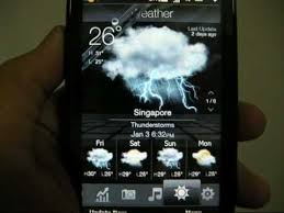 htc touch hd weather app you
