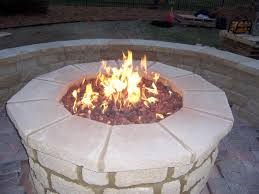 how to build outdoor gas fire pit