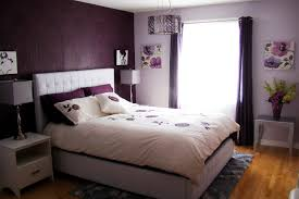 Purple And Cream Bedroom Bedroom Awesome Purple Wall Bedroom Design With Cream Fabric