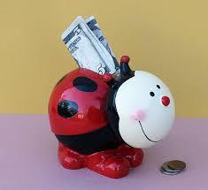 amazoncom bobble head ladybug piggy bank toys  games