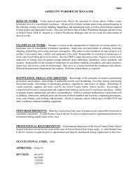 Warehouse Distribution Resume Warehouse Resume Samples Bination