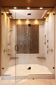 dual shower head for two people. This Masterpiece Two Person Shower With Separate Benches And Controls Could Easily Be Designed Without The Dual Head For People
