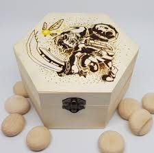 this hand burnt legend of zelda majora s mask inspired box was made to protect your jewelry trinkets or dice or rus heart pieces