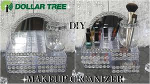dollar tree diy glam mirror makeup organizer tutorial diy room decor