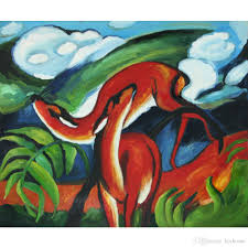 2019 abstract horse paintings franz marc the red deer art hand painted canvas art high quality from kixhome 101 51 dhgate com
