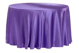 satin 132 round tablecloth purple